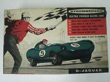 Vintage Strombecker D Type Jaguar 1:24 Scale Electric Racing Model Car Kit #D44