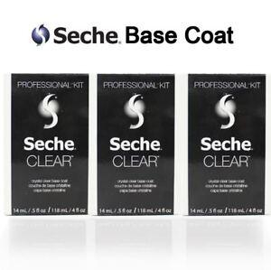 Seche CLEAR Base Coat Nail Polish REFILL KIT 4oz (PACK OF 3)