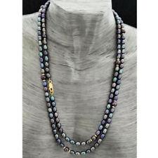 Gefärbte Echtschmuck-Halsketten-Perlen