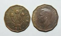 1941, Threepence Great Britain a Lot of 2 Value Coins-2