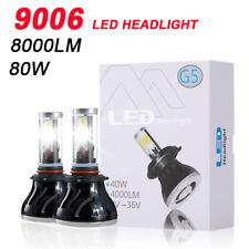 G5 9006 HB4 80W 8000LM 6000K Car Headlight COB LED Lamp Kit White Bulbs Beam