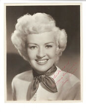 Betty Grable Signed Vintage 8 x 10 Photo / Actor Autographed