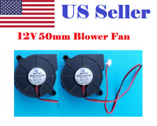 2 Pcs 12V DC 5015 mm Blower Radial Cooling Fan Hotend Extruder RepRap 3D Printer