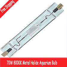 SuperReef 8000K HQI Metal Halide 70W watt Double Ended Bulb 8K Aquarium Tank