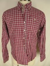 Gant x Michael Bastian Mens Red Plaid Long Sleeve Cotton Shirt XL