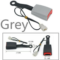 """Grey 7/8 """" Camlock Auto Car Front Seat Belt Lock Buckle with Warning Cable"""