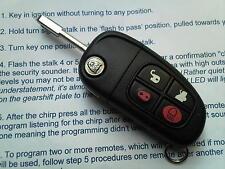 Genuine Jaguar XJ XJS XJR & FORD FOCUS MONDEO MK3 etc 4BT ALLARME Flip non tagliata portachiavi