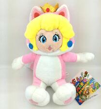 "Super Mario Bros 3D World Cat Form Peach Princess Pink Suit Soft Plush Toy 7"""