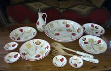 12 Pc. Noble Excellence Hand Painted China Pasta 101 Complete Serving Set ~NICE!