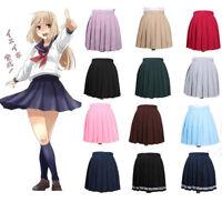 Women Girl JK Sailor Mini School Uniform Pleated Skirt Dress Cosplay Plus Size