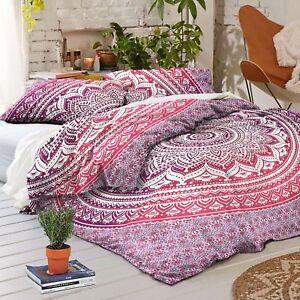 Indische Mandala Duvet Doona Cover werfen Decke böhmischen Decke Set Hippie