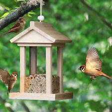 15.5cm aus Holz Vogelhäuschen Vogelhäuser Vogelfutterhaus Futterspender!