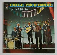 disco EMILE PRUD'HOMME LE BAL A' MIMILE- LP 33 -CBS 88247- RARE VINYL