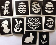 10 X Easter Stencils 1 Top up Your Glitter Tattoo Kit Face Painting Airbrush