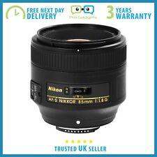 New Nikon AF-S NIKKOR 85mm f/1.8G Lens - 3 Year Warranty