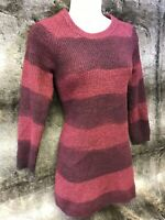 Burberry Brit Purple Long Sleeve Cotton/Wool/Silk/Cashmere Sweater/Dress Size M