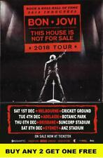 BON JOVI 2018 - This House Is Not For Sale - Laminated Australian Tour Poster