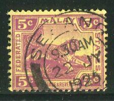 D261295 Malaya VFU Tiger 5 c. violet