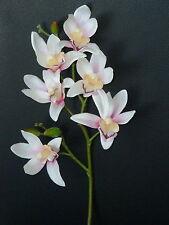 Orchidee weiß-pink Kunstblumen -Seidenblumen -künstliche Blumen-Deko
