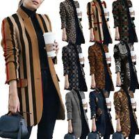 Women's Long Sleeve Slim Blazer Suit Coats Ladies Work Jackets Cardigan Outwear