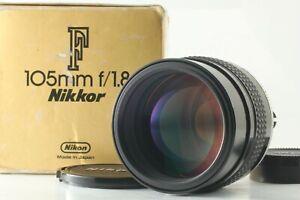 【Mint in Box】 Nikon AI-S AIS NIKKOR 105mm F/1.8 Telephoto MF Lens Japan #95