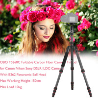 OBO Carbon Fiber Professional Tripod Monopod Stand w/ Ball Head for DSLR Camera