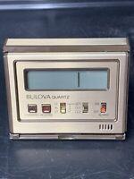 Vintage Bulova Quartz LCD Digital Travel Alarm Clock with Maidenform logo