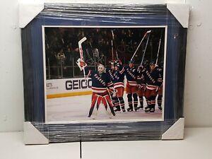 HENRIK LUNDQVIST & JAGR Signed New York Rangers 16 x 20 Photo Framed Steiner