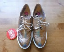 NEW XTI Kids Girls UK 3 EU 36 Rose Gold Shimmer Shoes Trainers