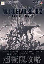 Metal Gear Solid 2: Sons of Liberty Official Complete Guide Book Expert File PS