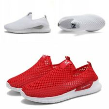 Big Size Womens Men Slip Om Hollow Walking Running Shoes Breathable Sport Soft B