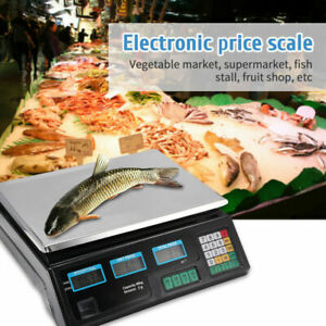 40kg/5g Digital Fruit Scales Electronic Veg Commercial Shop Retail Price Weigh
