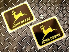 john deere stickers x2 agriculture stickers farming decals black and yellow