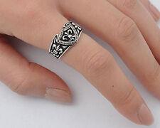 USA Seller Fleur De Lis Ring Sterling Silver 925 Unisex Best Deal Jewelry Size 9