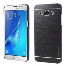 Coque Etui Protection Rigide Luxe Aluminium Noir Black Samsung Galaxy J3 2016