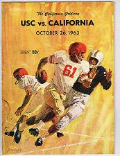 1963  USC vs CALIFORNIA  Football Program NCAA