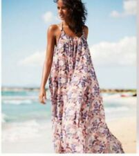 H&M MAXI DRESS FLOWERY FLORAL SLIGHTLY SHEER FLOATY PARACHUTE (OTHER STORIES)