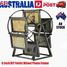 Retro Vintage Family Photo Frame Ferris Wheel Rotatable Windmill Photoframe Home