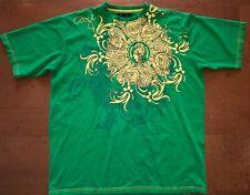 COOGI Centurion T-Shirt Mens 4XL XXXXL Green Yellow Embroidered Coogi RARE Tee