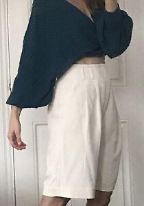 Brunello Cucinelli Heavy Silk Blend Bermuda Pants Shorts 42 12 New
