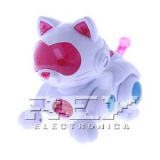 Gato Gatito Robot Luz LED Pasea Anda Baila Mascota Virtual Rosa Niños + 3 j256