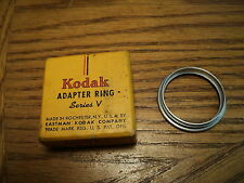 """Vintage Kodak 1-3/16"""" ( 30mm ) Adapter Ring Series V / 5 Threaded  Original Box"""
