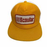 vtg USA Scoular Feed Seed Hat Snapback Mesh Cap Trucker New Era Pro Design