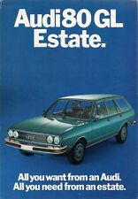 Audi 80 GL Estate 1588cc 1976 UK Market Foldout Sales Brochure
