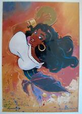 Disney ESMERALDA HUNCHBACK Of NOTRE DAME Print HAND SIGNED Artist Eric Robison