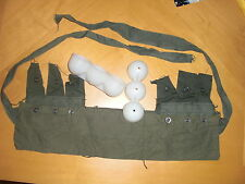 M79 Pouch Bandoleer, Olive Drab 40mm NOS Bandolier w 2 eggcrates Blooper Thumper
