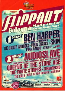 FLIPPAUT Ben Harper QoTSA WHITE STRIPES SKIN flyer mini poster 15 x 20 cm 2003