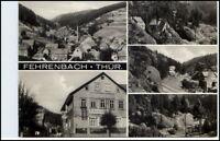 FEHRENBACH Thüringen DDR Postkarte 5-fach Mehrbild-AK Ansichtskarte