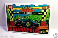 Indianapolis 500 Vintage Style Travel Decal / Vinyl Sticker, Luggage Label