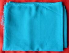 Foulard uni duppatta bleu en polyester lonngueur 2,18 m comme neuf